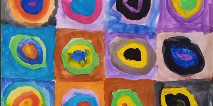 Schülerergebnisse aus der Kunst AG 2020